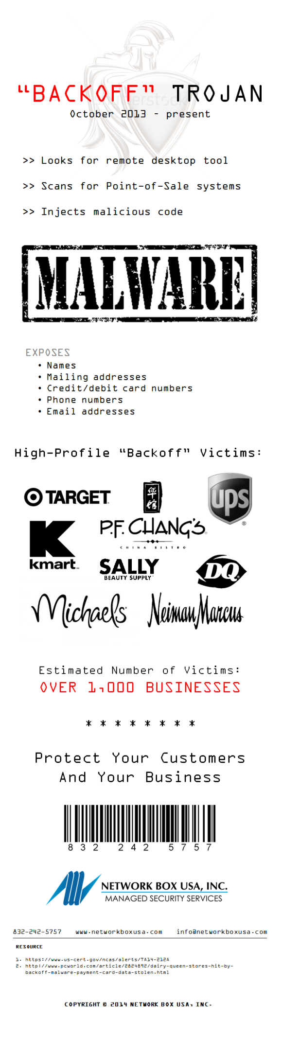 Backoff Trojan and POS Security